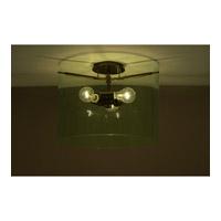Besa Lighting Pahu 3 Light 16 inch Bronze Semi-Flush Mount Ceiling Light in Incandescent Transparent Olive Glass