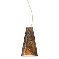 Besa Lighting 1KX-4124CE-SN Cierro 1 Light Satin Nickel Pendant Ceiling Light in Ceylon Glass Incandescent