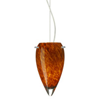 Juli 1 Light 6 inch Satin Nickel Pendant Ceiling Light in Amber Cloud Glass, Incandescent