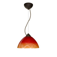 besa lighting 1kx4201slbr tessa 1 light bronze pendant ceiling light in solare - Besa Lighting