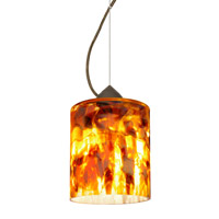 Besa Lighting Falla 1 Light Bronze Pendant Ceiling Light in Coffee Glass Incandescent