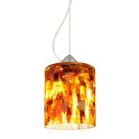 Besa Lighting Falla 1 Light Satin Nickel Pendant Ceiling Light in Coffee Glass Incandescent