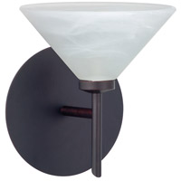 Besa Lighting 1SW-117652-BR Kona 1 Light 6 inch Bronze Mini Sconce Wall Light in Halogen Marble Glass