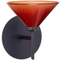 Besa Lighting 1SW-117681-LED-BR Kona LED 6 inch Bronze Mini Sconce Wall Light in Sunset Glass