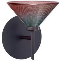 Besa Lighting 1SW-117691-BR Kona 1 Light 6 inch Bronze Mini Sconce Wall Light in Halogen Bi-color Glass