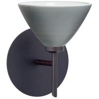 Besa Lighting 1SW-1743TN-LED-BR Domi LED 5 inch Bronze Mini Sconce Wall Light in Titan Glass