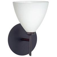 Besa Lighting 1SW-177907-BR Mia 1 Light 5 inch Bronze Mini Sconce Wall Light in Halogen Opal Matte Glass