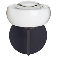 Besa Lighting 1SW-2634CL-BR Focus 1 Light 7 inch Bronze Mini Sconce Wall Light in Halogen Clear Glass