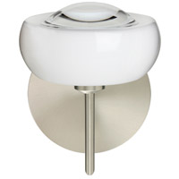Besa Lighting 1SW-2634CL-SN Focus 1 Light 7 inch Satin Nickel Mini Sconce Wall Light in Halogen Clear Glass
