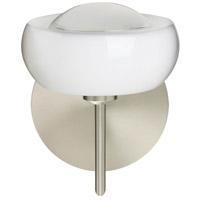 Besa Lighting 1SW-2634FR-SN Focus 1 Light 7 inch Satin Nickel Mini Sconce Wall Light in Halogen Frost Glass