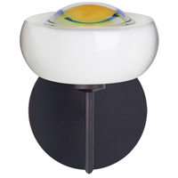 Besa Lighting 1SW-2634WD-LED-BR Focus LED 7 inch Bronze Mini Sconce Wall Light in Warm Dicro Glass