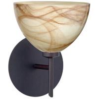 Besa Lighting 1SW-467983-BR Brella 1 Light 6 inch Bronze Mini Sconce Wall Light in Halogen Mocha Glass