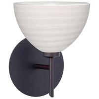 Besa Lighting 1SW-4679KR-LED-BR Brella LED 6 inch Bronze Mini Sconce Wall Light in Chalk Glass