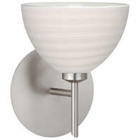 Besa Lighting 1SW-4679KR-LED-SN Brella LED 6 inch Satin Nickel Mini Sconce Wall Light in Chalk Glass