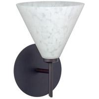 Besa Lighting 1SW-512119-LED-BR Kani LED 6 inch Bronze Mini Sconce Wall Light in Carrera Glass