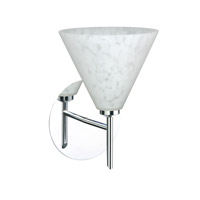 Besa Lighting 1SW-512119-LED-CR Kani LED 6 inch Chrome Mini Sconce Wall Light in Carrera Glass
