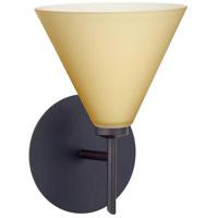 Besa Lighting 1SW-5121VM-BR Kani 1 Light 6 inch Bronze Mini Sconce Wall Light in Halogen Vanilla Matte Glass
