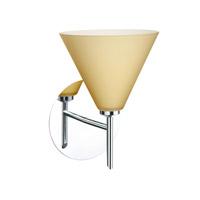 Besa Lighting 1SW-5121VM-CR Kani 1 Light 6 inch Chrome Mini Sconce Wall Light in Halogen Vanilla Matte Glass