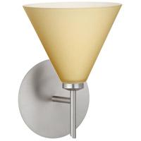 Besa Lighting 1SW-5121VM-LED-SN Kani LED 6 inch Satin Nickel Mini Sconce Wall Light in Vanilla Matte Glass