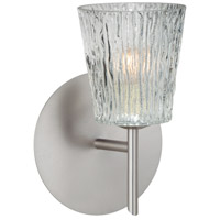 Besa Lighting 1SW-512500-LED-SN Nico 4 LED 5 inch Satin Nickel Mini Sconce Wall Light in Clear Stone Glass
