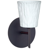 Besa Lighting 1SW-5125OS-LED-BR Nico 4 LED 5 inch Bronze Mini Sconce Wall Light in Opal Stone Glass