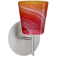 Besa Lighting 1SW-5131SL-LED-SN Canto 5 LED 5 inch Satin Nickel Mini Sconce Wall Light in Solare Glass photo thumbnail