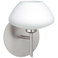 Besa Lighting 1SW-541007-LED-SN Peri LED 5 inch Satin Nickel Mini Sconce Wall Light in Opal Matte Glass