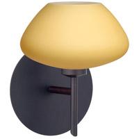Besa Lighting 1SW-5410VM-BR Peri 1 Light 5 inch Bronze Mini Sconce Wall Light in Halogen Vanilla Matte Glass