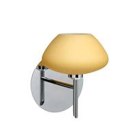 Besa Lighting 1SW-5410VM-CR Peri 1 Light 5 inch Chrome Mini Sconce Wall Light in Halogen Vanilla Matte Glass