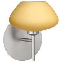 Besa Lighting 1SW-5410VM-LED-SN Peri LED 5 inch Satin Nickel Mini Sconce Wall Light in Vanilla Matte Glass
