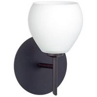 Besa Lighting 1SW-560507-BR Tay Tay 1 Light 5 inch Bronze Mini Sconce Wall Light in Halogen Opal Matte Glass