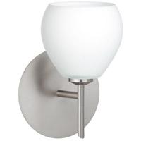 Besa Lighting 1SW-560507-LED-SN Tay Tay LED 5 inch Satin Nickel Mini Sconce Wall Light in Opal Matte Glass