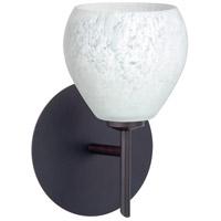 Besa Lighting 1SW-560519-BR Tay Tay 1 Light 5 inch Bronze Mini Sconce Wall Light in Halogen Carrera Glass