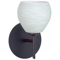 Besa Lighting 1SW-560560-LED-BR Tay Tay LED 5 inch Bronze Mini Sconce Wall Light in Cocoon Glass