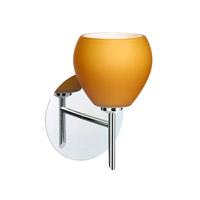 Besa Lighting 1SW-560580-CR Tay Tay 1 Light 5 inch Chrome Mini Sconce Wall Light in Halogen Amber Matte Glass