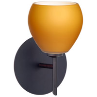 Besa Lighting 1SW-560580-LED-BR Tay Tay LED 5 inch Bronze Mini Sconce Wall Light in Amber Matte Glass