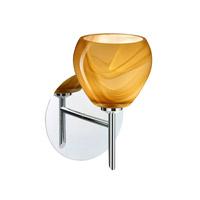 Besa Lighting 1SW-5605HN-CR Tay Tay 1 Light 5 inch Chrome Mini Sconce Wall Light in Halogen Honey Glass