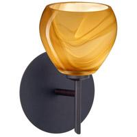 Besa Lighting 1SW-5605HN-LED-BR Tay Tay LED 5 inch Bronze Mini Sconce Wall Light in Honey Glass