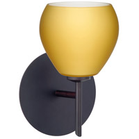 Besa Lighting 1SW-5605VM-LED-BR Tay Tay LED 5 inch Bronze Mini Sconce Wall Light in Vanilla Matte Glass
