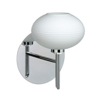 Besa Lighting 1SW-561207-CR Lasso 1 Light 5 inch Chrome Mini Sconce Wall Light in Halogen Opal Matte Glass