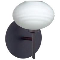 Besa Lighting 1SW-561207-LED-BR Lasso LED 5 inch Bronze Mini Sconce Wall Light in Opal Matte Glass