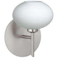 Besa Lighting 1SW-561207-LED-SN Lasso LED 5 inch Satin Nickel Mini Sconce Wall Light in Opal Matte Glass