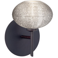Besa Lighting 1SW-5612GL-BR Lasso 1 Light 5 inch Bronze Mini Sconce Wall Light in Halogen Glitter Glass