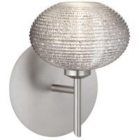 Besa Lighting 1SW-5612GL-LED-SN Lasso LED 5 inch Satin Nickel Mini Sconce Wall Light in Glitter Glass