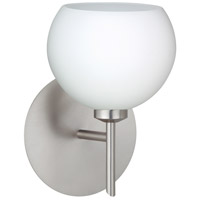 Besa Lighting 1SW-565807-LED-SN Palla 5 LED 5 inch Satin Nickel Mini Sconce Wall Light in Opal Matte Glass