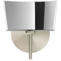 Groove 1 Light 8 inch Satin Nickel Mini Sconce Wall Light