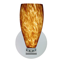 Karli 1 Light 5 inch Polished Nickel Wall Sconce Wall Light in Amber Cloud Glass, Halogen