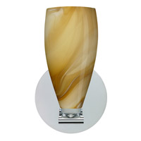 Karli LED 5 inch Polished Nickel Wall Sconce Wall Light in Honey Glass