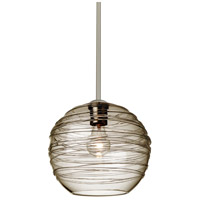 Wave 10 1 Light Satin Nickel Stem Pendant Ceiling Light