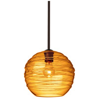 Wave 10 1 Light Bronze Stem Pendant Ceiling Light